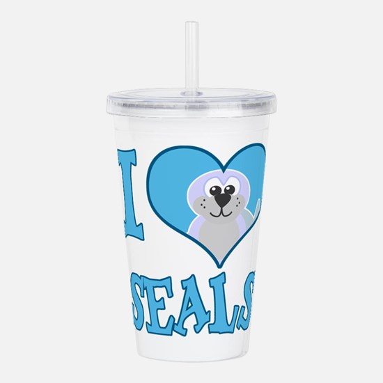 love seals.png Acrylic Double-wall Tumbler