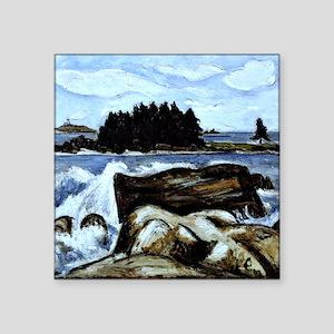 """Jotham's Island (now Fox),  Square Sticker 3"""" x 3"""""""
