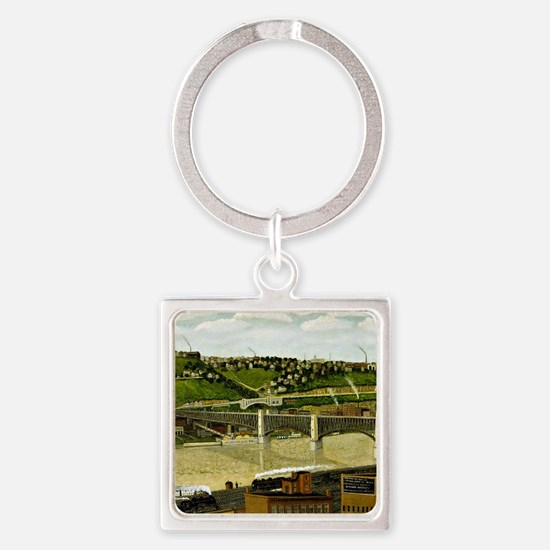 Liberty Bridge, Pittsburgh, 1932 Square Keychain