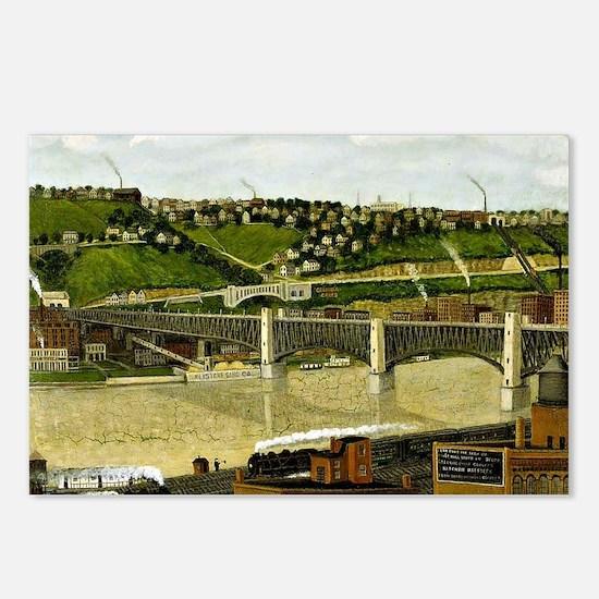 Liberty Bridge, Pittsburg Postcards (Package of 8)