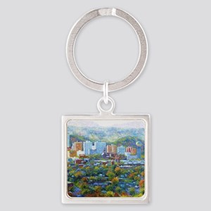 Knoxville, Tennessee Looking South Square Keychain