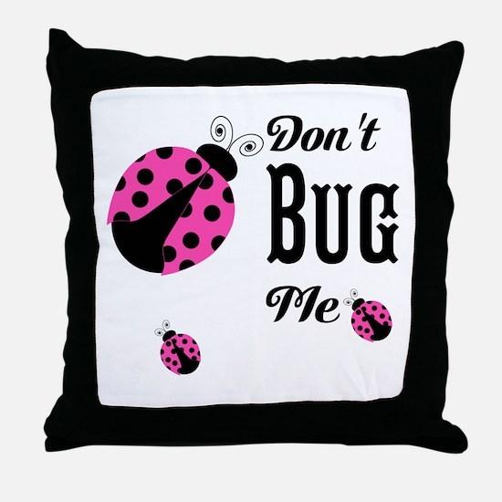Circles and Polka Dots Neutrals Throw Pillow