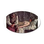 Sickert-Camden-murder 20x12 Oval Wall Decal