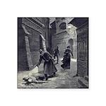 Jack The Ripper Square Sticker 3