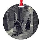 Jack The Ripper Round Ornament