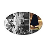 Dr. H.H. Holmes & Jack The R 20x12 Oval Wall Decal