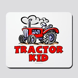 Red Tractor Kid Mousepad