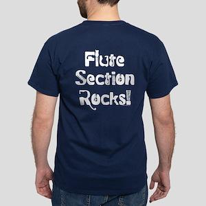Flute Section Rocks Dark T-Shirt