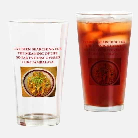 jambalaya Drinking Glass