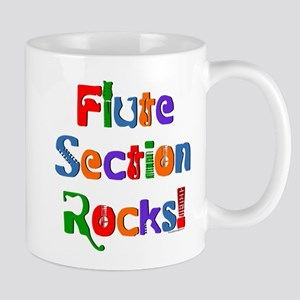 Flute Section Rocks Color Mug