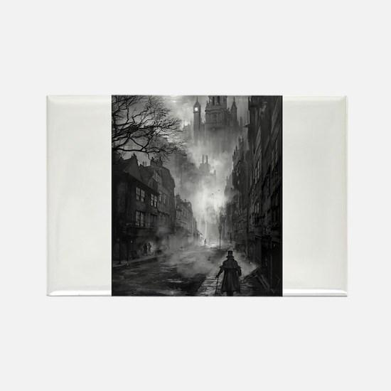 Jack The Ripper Walking in Whitechapel, 1888. Magn
