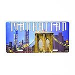 Manhattan Aluminum License Plate