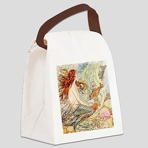 Vintage Mermaid Canvas Lunch Bag