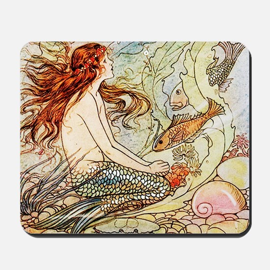 Vintage Mermaid Mousepad