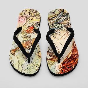 Vintage Mermaid Flip Flops