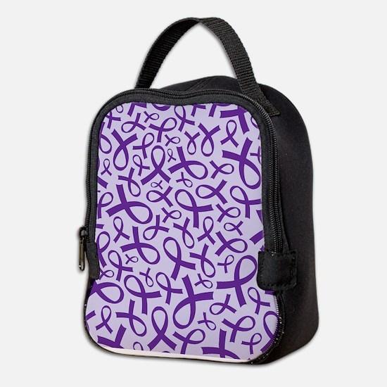 Alzheimer's Purple Ribbon Neoprene Lunch Bag
