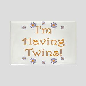 I'm having twins! Rectangle Magnet