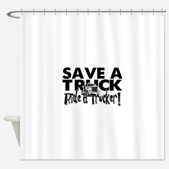 Save a Truck Shower Curtain