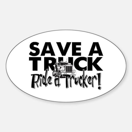 Save a Truck Sticker (Oval)