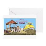 Bulldoze the Smoking Gazebo Greeting Cards (Packag