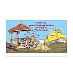 Bulldoze the Smoking Gazebo Mini Poster Print