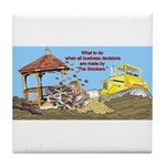 Bulldoze the Smoking Gazebo Tile Coaster