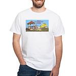 Bulldoze the Smoking Gazebo White T-Shirt