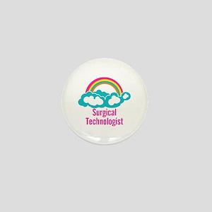 Cloud Rainbow Surgical Technologist Mini Button