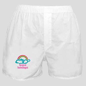Cloud Rainbow Surgical Technologist Boxer Shorts