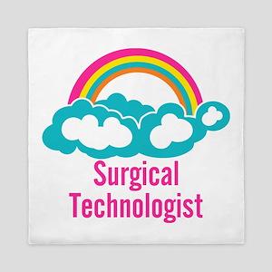 Cloud Rainbow Surgical Technologist Queen Duvet
