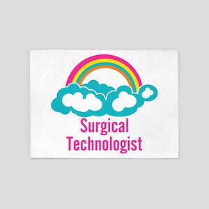 Cloud Rainbow Surgical Technologist 5'x7'Area Rug