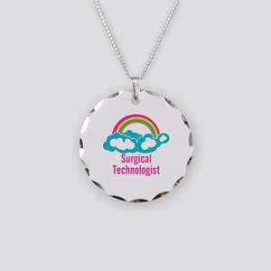 Cloud Rainbow Surgical Techn Necklace Circle Charm