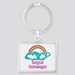 Cloud Rainbow Surgical Technolo Landscape Keychain