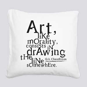 morality Square Canvas Pillow