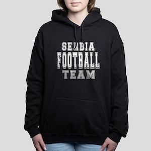 Serbia Football Team Women's Hooded Sweatshirt