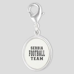 Serbia Football Team Silver Oval Charm