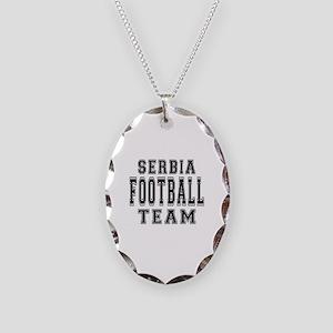 Serbia Football Team Necklace Oval Charm