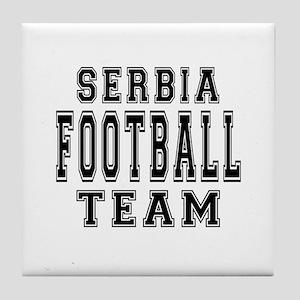 Serbia Football Team Tile Coaster