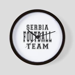 Serbia Football Team Wall Clock