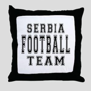 Serbia Football Team Throw Pillow