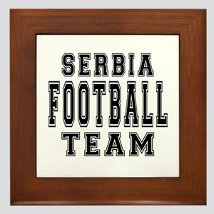 Serbia Football Team Framed Tile