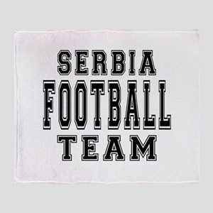Serbia Football Team Throw Blanket