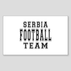 Serbia Football Team Sticker (Rectangle)
