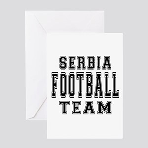 Serbia Football Team Greeting Card