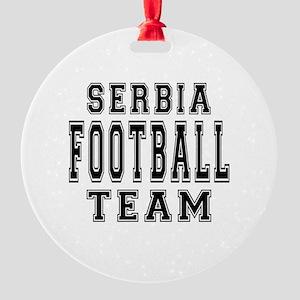 Serbia Football Team Round Ornament