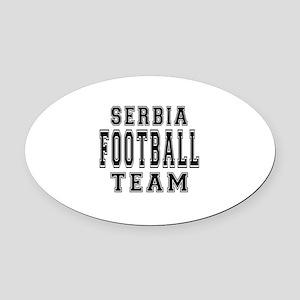 Serbia Football Team Oval Car Magnet