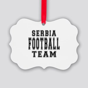 Serbia Football Team Picture Ornament