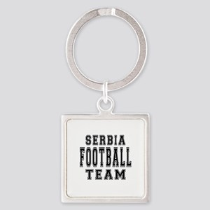 Serbia Football Team Square Keychain