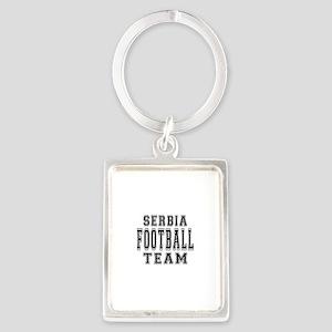 Serbia Football Team Portrait Keychain