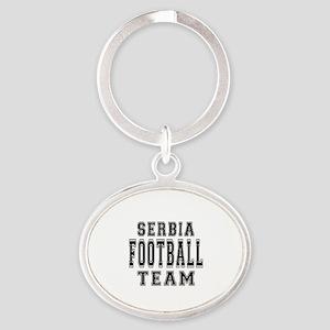 Serbia Football Team Oval Keychain